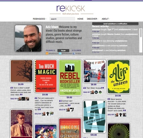 A Curated Online Personal Shop: reKiosk Opens Up a Revenue-Making Opportunity for Digital Product Curators | eBook Writing, Publishing & Marketing | Scoop.it