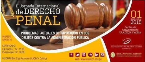 II-Jornada Internacional de DERECHO PENAL | RedDOLAC | Scoop.it