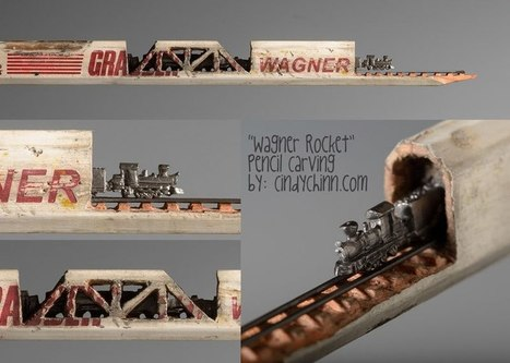 USA: Cindy Chinn Carves Miniature Trains Out of Carpenter Pencils | Beyond London Life | Scoop.it