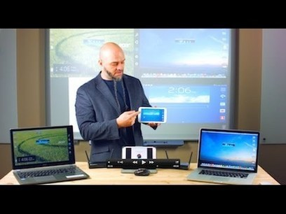 How to Wirelessly Present Four Devices On Screen Simultaneously - YouTube