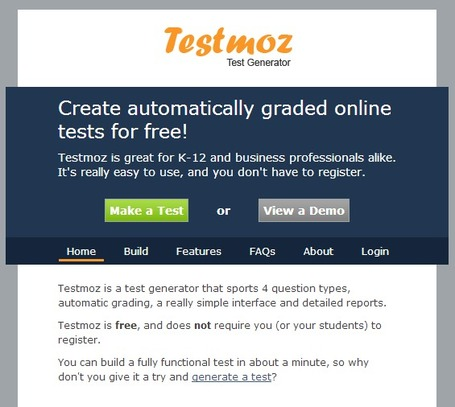 Testmoz - The Test Generator | formation 2.0 | Scoop.it