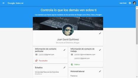 Nuevas páginas de perfil en las cuentas de Google (Gmail, Drive, Fotos, etc.) | Educacion, ecologia y TIC | Scoop.it
