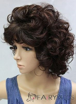 10 Inch Capless Wavy Short Brown Synthetic Hair Wigs : fairywigs.com | African American Wigs | Scoop.it