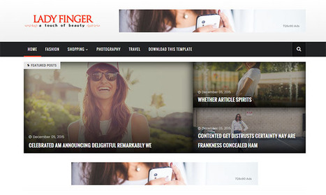 Lady Finger Blogger Template | Blogger themes | Scoop.it