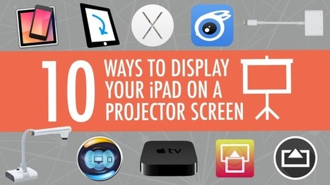 10 Ways to Show Your iPad on a Projector Screen - Learning in Hand | iPads in Education | Scoop.it