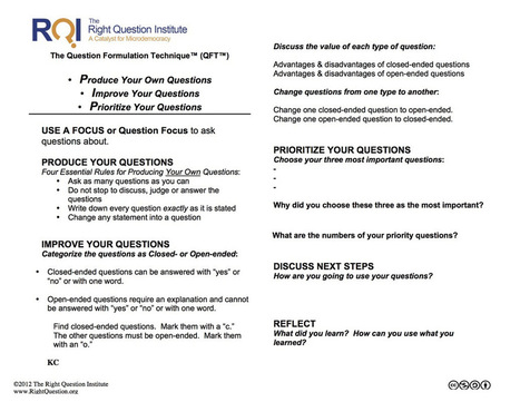 8 Strategies To Help Students Ask Great Questions | Pensamiento crítico y su integración en el Curriculum | Scoop.it