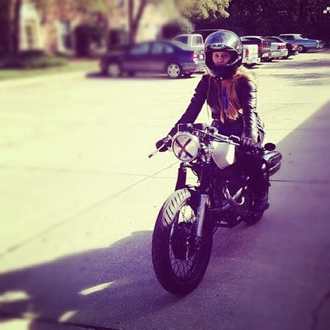 Stephanie Pottenger (tumblog) on her first ride… | Cafe Racers | Scoop.it
