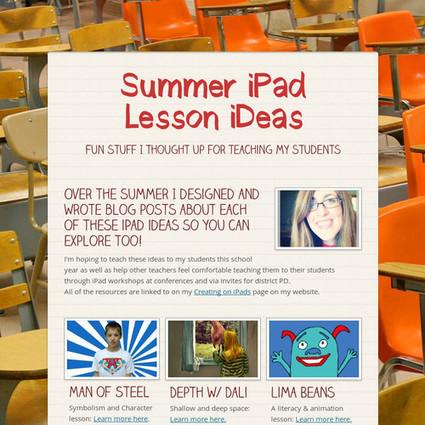 Summer iPad Lesson iDeas   MILS   Scoop.it