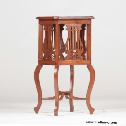Buy Wooden Stool | Stand | Madhurya | Interior and home decor | Scoop.it