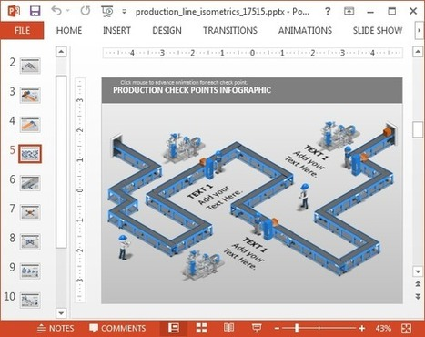 Production Line Isometric PowerPoint Template | PowerPoint Presentation | PowerPoint presentations and PPT templates | Scoop.it