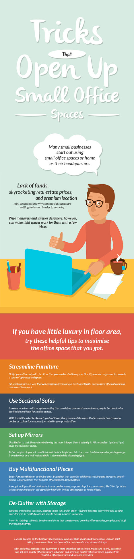 Tricks That Open Up Small Office Spaces | Office Furniture UK | Scoop.it