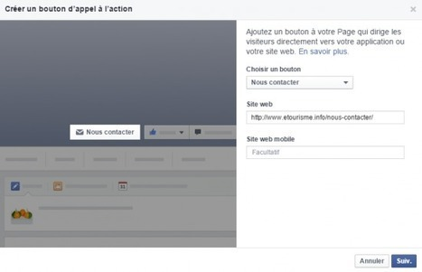 Un bouton d'appel à l'action disponible pour les Pages Facebook | Animer une communauté Facebook | Scoop.it