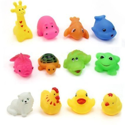 12 pcs/Lot Mixed Different Animal Bath Toys Children Washing Education Toys | Karam Roman | Scoop.it