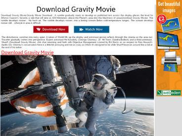Download Gravity Movie | Gravity Movie | Scoop.it