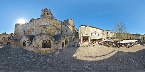 Eglise monolithe de Saint-Emilion et place des Créneaux - France par Pascal Moulin - Panorama 360 x 180° au mât télescopique | moulin360panoramic | Scoop.it