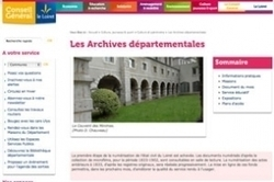 Archives du Loiret : le site Web ouvrira début juin !   RoBot généalogie   Scoop.it