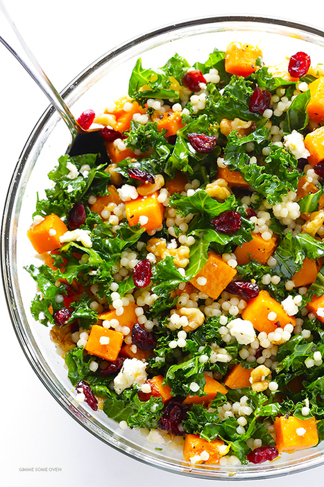 Roasted Butternut Squash, Kale and Cranberry Couscous   ♨ Family & Food ♨   Scoop.it