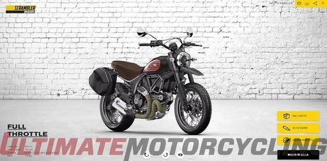 Ducati Scrambler Configurator Launches | Note: Time-Consumption Risk | Ductalk Ducati News | Scoop.it