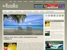 Rusalka Blogger Template Free Download by Louis - HeavenThemes | Blogger themes | Scoop.it