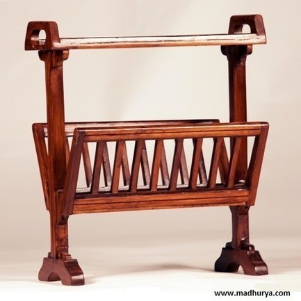 Buy Magazine Rack | Newspaper Rack | Wooden Stand | Madhurya | Interior and home decor | Scoop.it