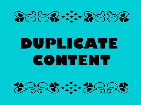Une victime du duplicate content témoigne pour vous | Social Media Curation par Mon-Habitat-Web.com | Scoop.it