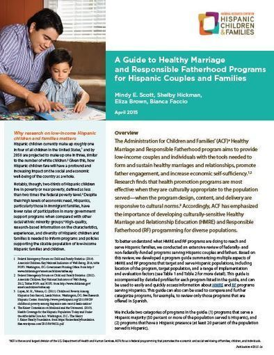 A Guide to Healthy Marriage and Responsible Fatherhood Programs for Hispanic Couples and Families | Healthy Marriage Links and Clips | Scoop.it