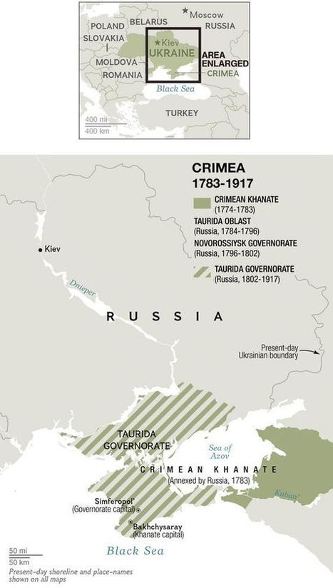 300 Years of Embattled Crimea History in 6 Maps | Political world | Scoop.it
