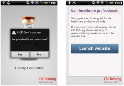 CSL Behring launches new dosing app | Digital Pharma | Scoop.it