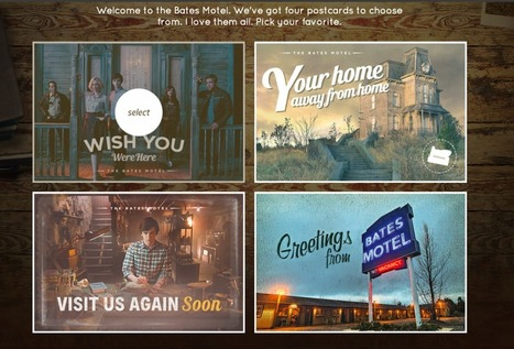 A&E lets 'Bates Motel' fans create customized postcards as second season premieres   screen seriality   Scoop.it