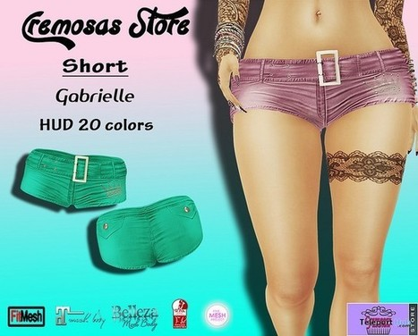 Gabrielle Shorts 20 Colors Group Gift by Cremosas Fashion | Teleport Hub - Second Life Freebies | Second Life Freebies | Scoop.it