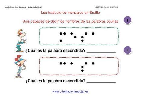 Los traductores de Braille fichas de atención - Orientacion Andujar | Materiales de Orientación Andújar | Scoop.it