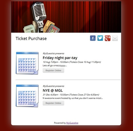 Now Available: Ticketing Widget Displaying Upcoming Events On Your | Event Marketing | Scoop.it