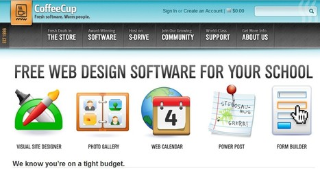 Free Web Design Software for Schools | CoffeeCup Software | 1-MegaAulas - Ferramentas Educativas WEB 2.0 | Scoop.it