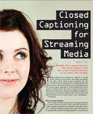 Closed Captioning for Streaming Media | Video Breakthroughs | Scoop.it