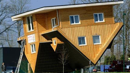 The Lowdown on Germany's Crazy Upside-Down House | In Today's News of the Weird | Scoop.it