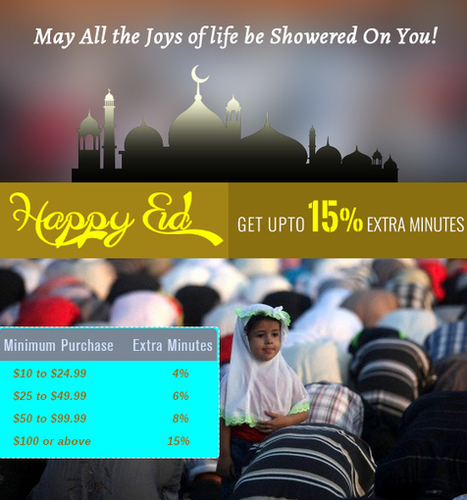 Happy Eid Offer by Amantel - Get Upto 10 Extra Minutes | Cheap International Calling | Scoop.it