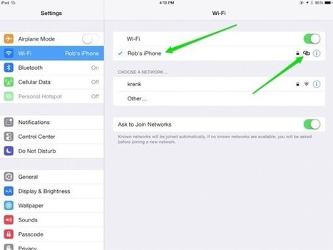 How to connect to and use your iPad as a personal hotspot | iPad Insight | iPads in Education | Scoop.it