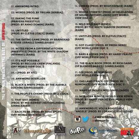 Art + Tracklist: The Hitmen Present: The Best of AWKWORD   AWKWORD   Important, Re AWKWORD   Scoop.it