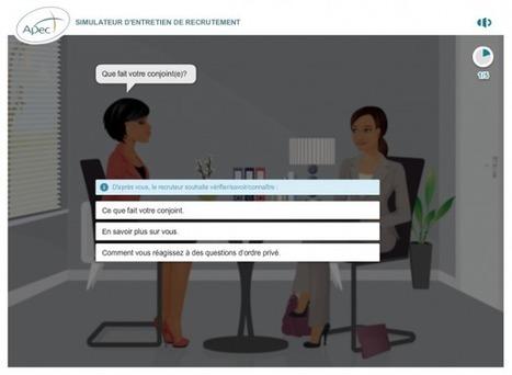 Simulez votre entretien d'embauche avec le serious game de l'APEC | CV, lettre de motivation, entretien d'embauche | Scoop.it