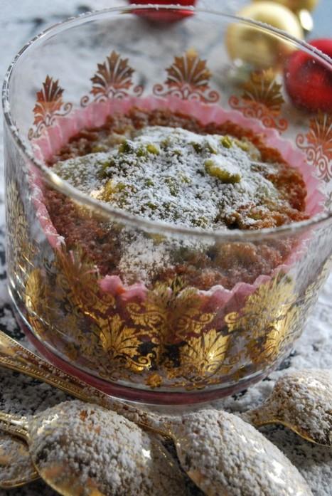 Moelleux à la pistache de coeur griotte | Desserts | Scoop.it