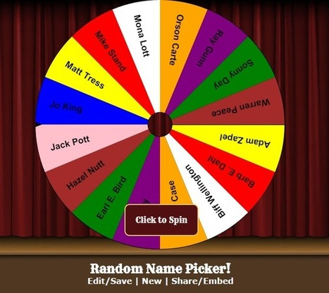 Random Name Picker Reviews and Creative Uses | Apps in Education | Scoop.it
