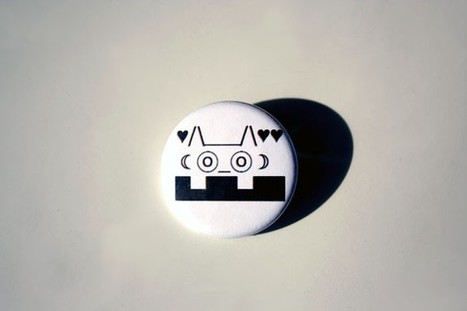 Voyeur Cat ASCII Pinback Button   ASCII Art   Scoop.it