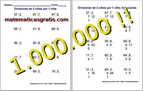 Un millón de fichas de matemáticas para imprimir - Matemáticas Gratis - Blog | Matemáticas Primaria | Scoop.it