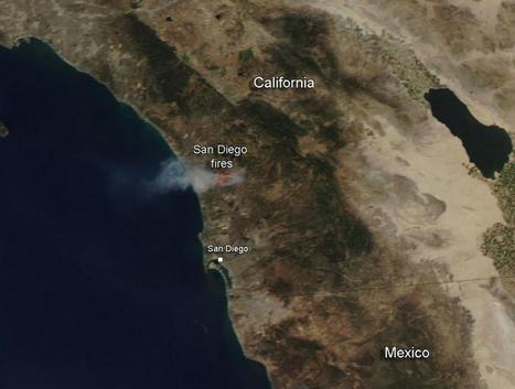 NASA image: Fires continue in San Diego County, California | Sustain Our Earth | Scoop.it