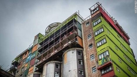 Joburg's 'Jenga' building stacks shipping containers on old mill | Topics in Geography | Scoop.it