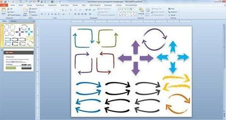 Free Hand Drawn Arrows PowerPoint Template   Arrows   Scoop.it