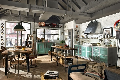 Vintage and Industrial Style Kitchens by Marchi Group | Adorable Home - Inspirational Home Design and Decorating Ideas | Scoop.it