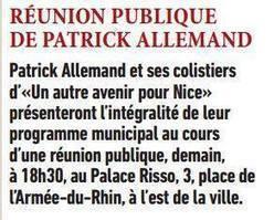 Réunion publique de Patrick Allemand   Nice 2014, Un autre Avenir pour Nice avec Patrick Allemand   Scoop.it