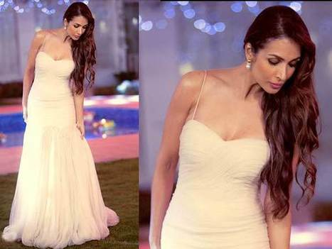 Like A Magic: Maliaka Arora Khan In Ayesha Depala Ivory Trumpet Gown | Celebrity Fashion Trends | Scoop.it