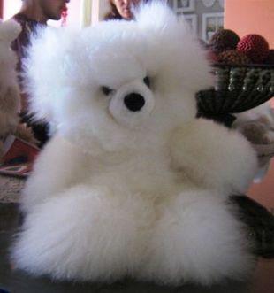 Weißer Teddy Bär, 35 cm | Produkte aus Peru | Scoop.it